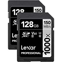 Deals on 2-PK Lexar 128GB Professional 1000x UHS-II U3 SDXC Memory Card