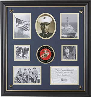 Allied Frame United States Marine Corps Medallion 7 Picture Collage Frame with Stars