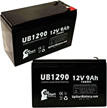 2 Pack Replacement for Minuteman PRO1500RT Battery - Replacement UB1290 Universal Sealed Lead Acid Battery (12V, 9Ah, 9000mAh, F1 Terminal, AGM, SLA) - Includes 4 F1 to F2 Terminal Adapters