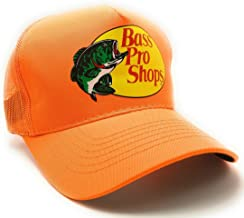 Bass Pro Shop Men's Trucker Hat Mesh Cap - One Size Fits All Snapback Closure - Great for Hunting & Fishing