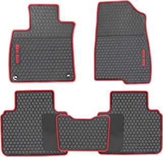 HD-Mart Car Rubber Floor Mat for Honda Accord 10th Generation 2018-2019 Custom Fit Black Red Auto Liner Mats All Weather, Heavy Duty & Odorless