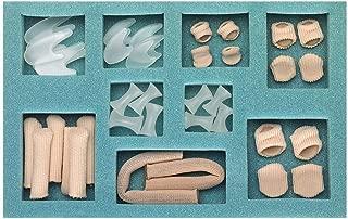 Silipos Digital Care Kit - Digital Pads, & Caps, Mesh Tubing, Gel Toe Spreaders & Separators #30365