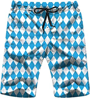 X-Large Oktoberfest Blue Mens Board Shorts Beach Lightweight Home Casual Shorts Swim-Trunks with Quick Dry