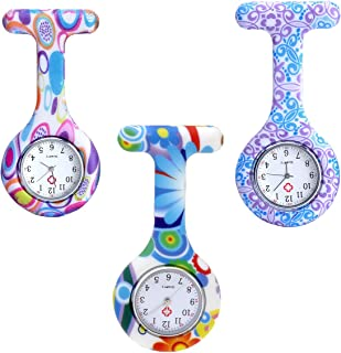 JSDDE Ensemble de montres d'infirmière avec cardiofréquencemètre, montre infirmière, montre de poche analogique à quartz