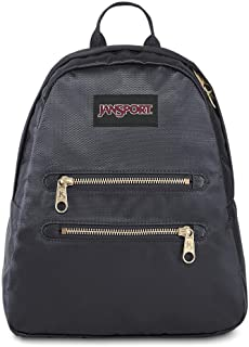 JanSport Half Pint 2 FX Mini Backpack - Perfect Lightweight Daypack, Deep Grey Gold Premium Poly