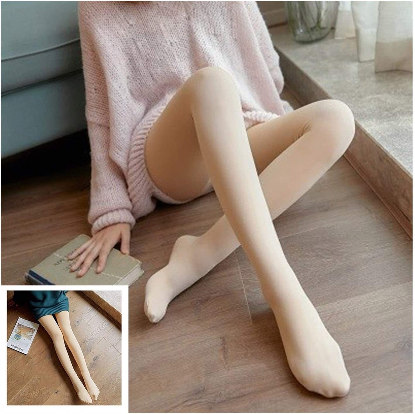 Moonlight Star Flawless Legs Warm Fleece Pantyhose Stockings Sexy Seamless High Superelastic Slim Tights (Color : Style C)