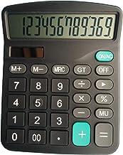 Calculadora electrónica de alta tecnología para escritorio con pantalla grande de 12 dígitos, pantalla LCD de energía solar para calculadora de oficina