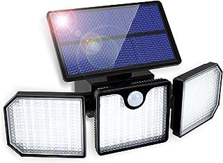 Luz Solar Exterior GolWof 230LED 3 Cabezas Lampara Solar Exterior con Sensor de Movimiento 270º lluminación Foco Solar Ext...