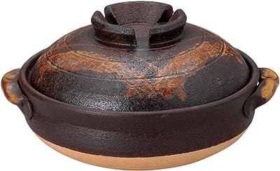 山下工芸 土鍋 陶器 29×25×13.5cm 鉄赤格子8号鍋 15030650