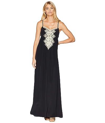 Lilly Pulitzer Kelsea Silk Maxi Dress (Onyx) Women