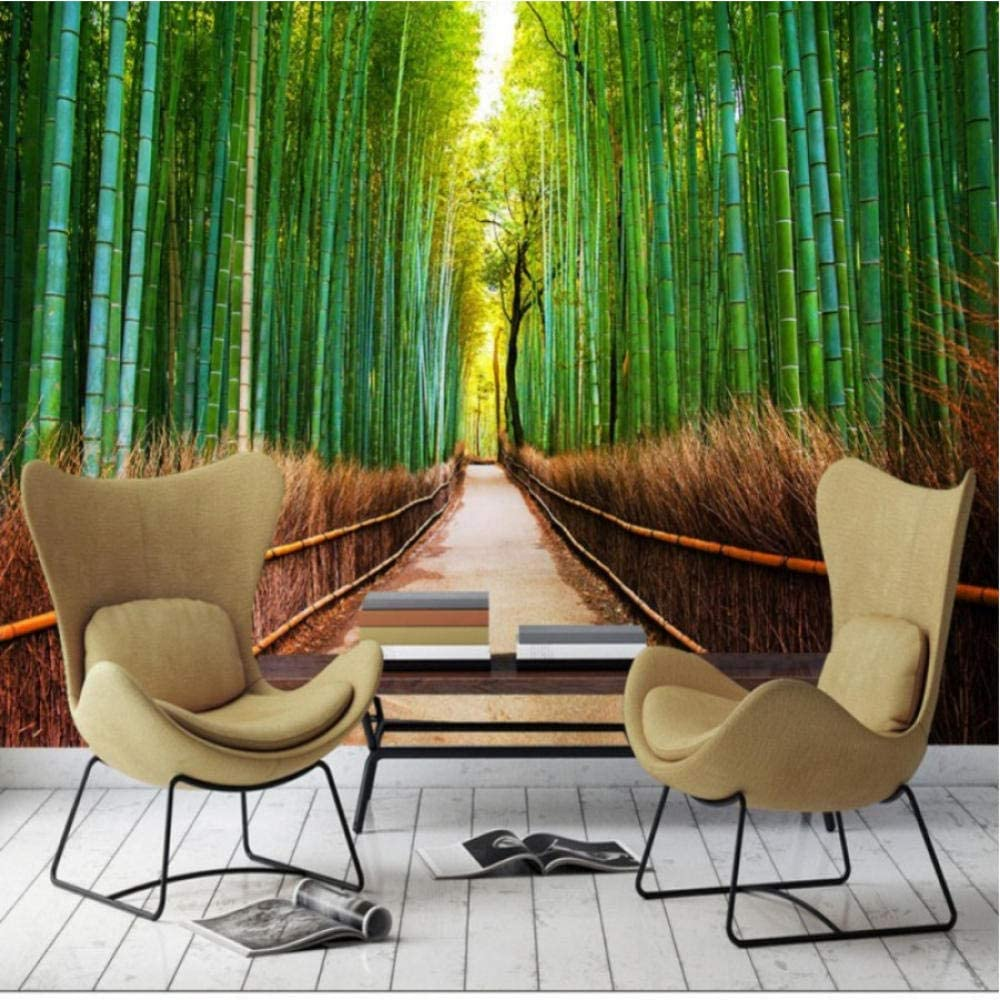 Clhhsy Green Max 61% OFF Wallpaper Bedroom Bamboo Beautiful Forest Max 50% OFF
