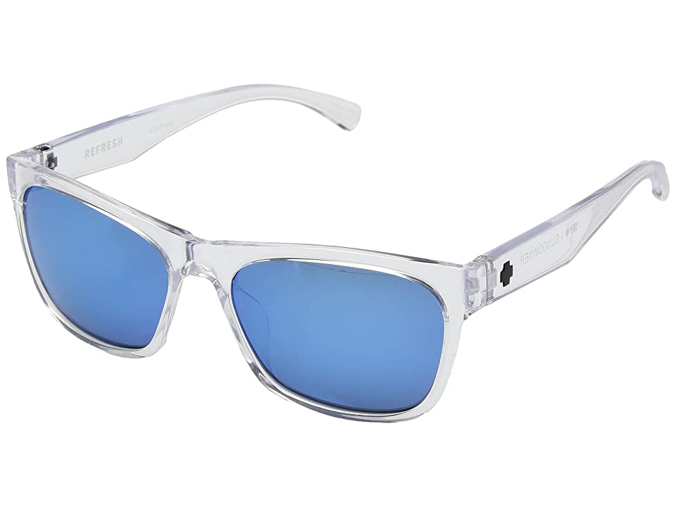 Spy Optic Sundowner (Crystal/Gray/Dark Blue Spectra) Sport Sunglasses