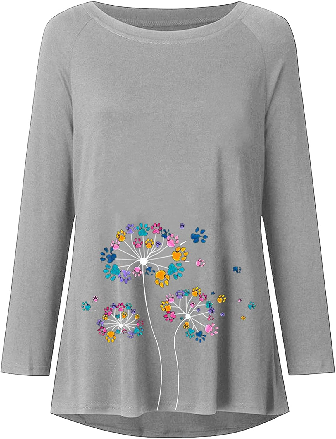 aihihe Womens Casual Crewneck Sweatshirts Pullover Oversized Long Sleeve Sweaters with Pockets Shirts Tunic Tops