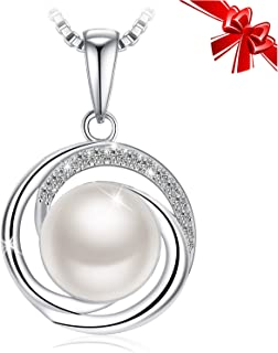 Best sterling silver necklace with pearl Reviews