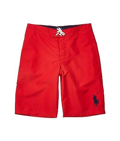 Polo Ralph Lauren Kids Sanible Big Pony Swim Trunks (Big Kids) (RL 2000 Red) Boy