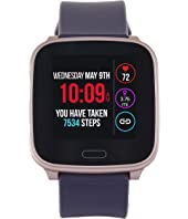Iconnect by Timex Active Rose Gold-Tone Case Digital Dial Purple Resin Strap