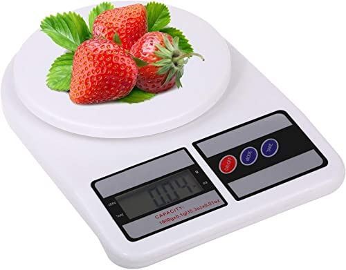 Generic Electronic Kitchen Digital Weighing Scale Multipurpose White 10 Kg