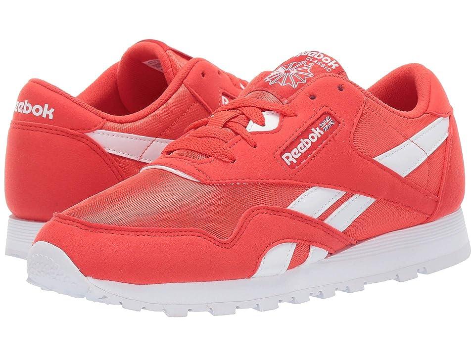 Reebok Kids Classic Nylon MU (Big Kid) (Red/White) Kids Shoes
