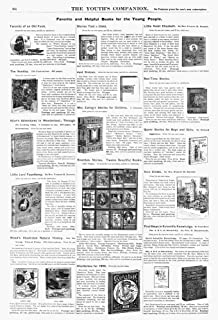 Advertisement Books 1890 Namerican Magazine Advertisement For Favorite And Helpful Books For The Young People Including Al...