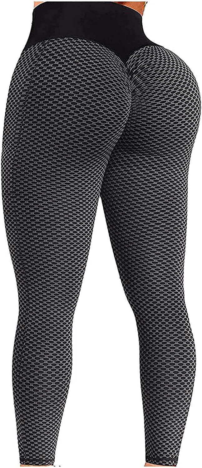 Butt Lift Yoga Pants Seamless Ruched Butt Leggings Butt Lift Textured Anti-Cellulite Booty Lifting Active Leggings