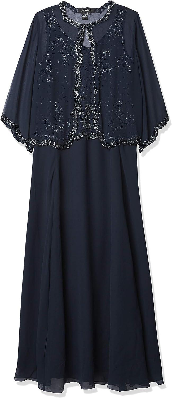 J Kara Women's 2 Pc Beaded Jacket Dress