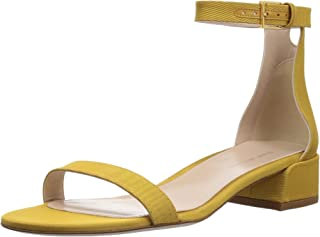 Stuart Weitzman Women's 35LESSNU Sandal, Ochre MOARE, 6 Medium US