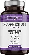 Magnesio con Vitaminas B5, B6 y C | Bisglicinato y Citrato de Magnesio 100% Biodisponible..