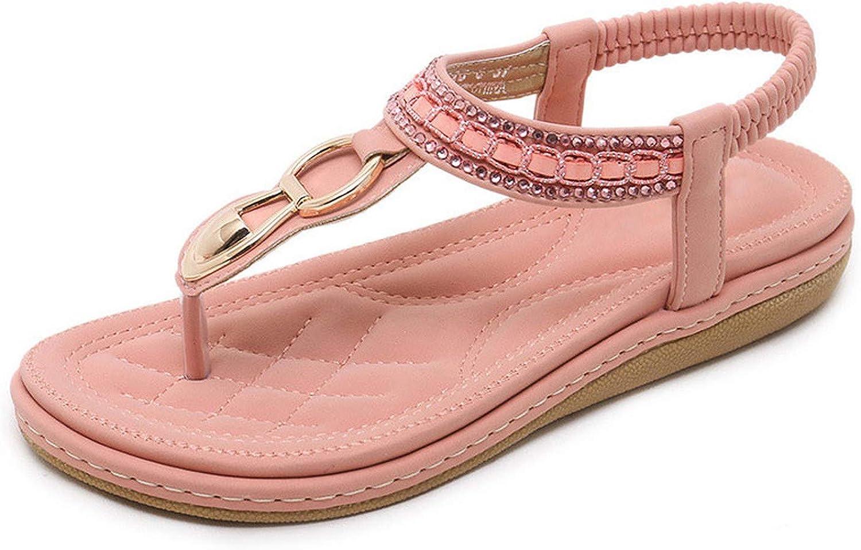 Efficiency shoes Woman Sandals 2019 String Bead flip Flop Metal Decoration Wedge Beach Sandals Women shoes Summer shoes