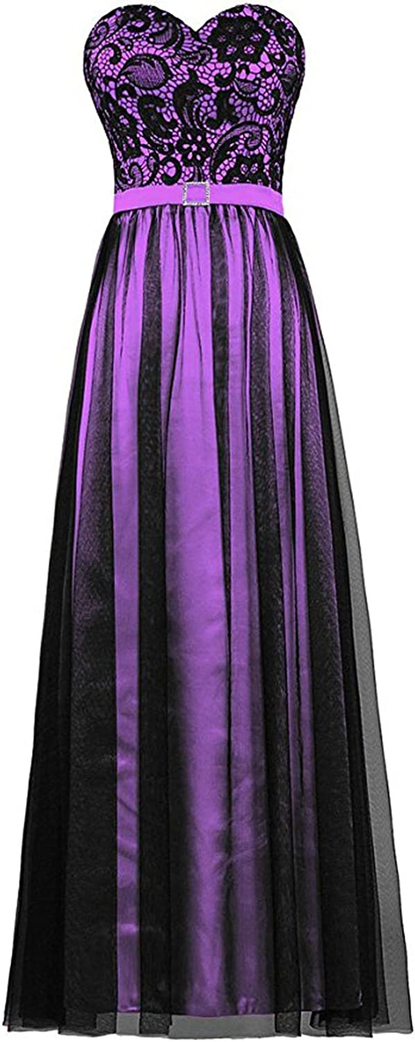 DressyMe Women's Wedding Party Dress Long Strapless ALine Tulle Celebration Gown