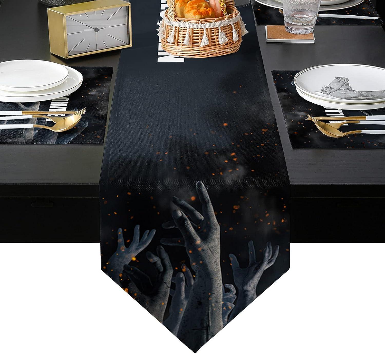 ARTSHOWING Regular dealer Halloween Table Runner with Resista Heat Placemats List price 6