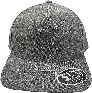 قبعة رجالي من ARIAT مطبوع عليها شعار الدرع الرمادي من 5 لوحات