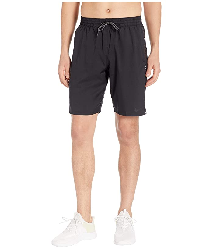 Nike 9 Logo Splice Racer Volley Shorts (Black) Men