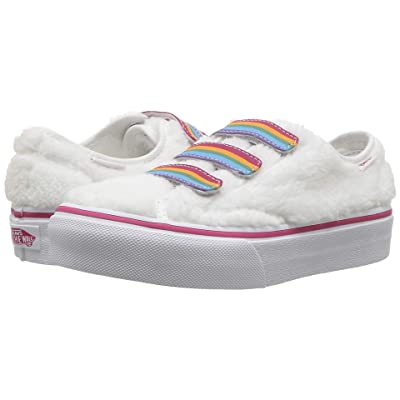 Vans Kids Style 23 V (Little Kid/Big Kid) ((Shearling Rainbow) True White) Girl