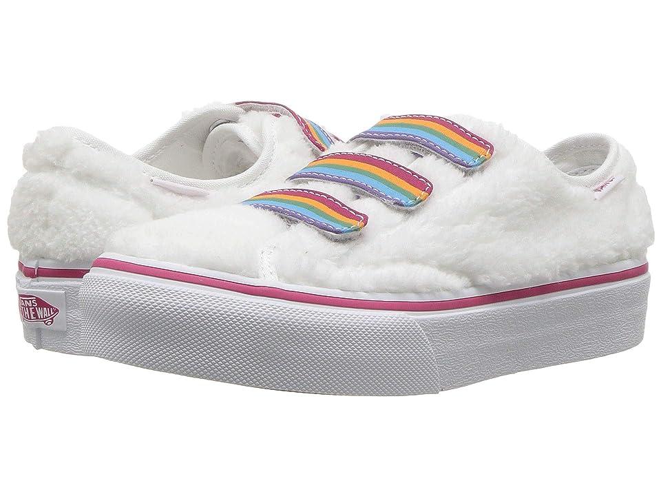 Vans Kids Style 23 V (Little Kid/Big Kid) ((Shearling Rainbow) True White) Girl