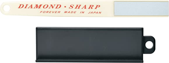 Diamond Knife Sharpener with Stand for Ceramic, Titanium, Steel Knives - Made in Japan