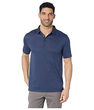 Linksoul LS1242 Dry-Tek Cotton Blend Four Button Polo (Midnight) Men
