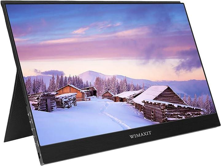 Monitor portatile wimaxit 13,3 pollici 1920 x 1080 p ips hdr  usb-c hdmi altoparlante integrato ultra sottile M1331C