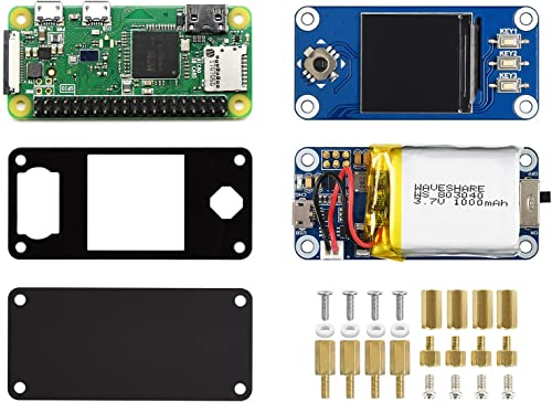 Waveshare Raspberry Pi Zero WH Together with UPS Module and 1.3inch LCD Display Bundle with UPS HAT (C) 1.3inch LCD H...