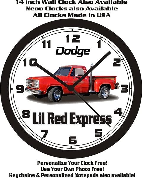 1979 DODGE LIL RED EXPRESS TRUCK WALL CLOCK FREE USA SHIP