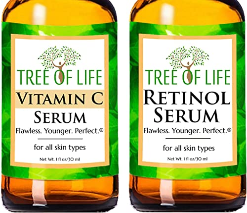 Anti Aging Serum Two-Pack - Vitamin C Serum - Retinol Serum - Anti Aging Serums For Daytime And Nighttime Skincare Re...
