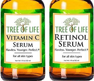 Anti Aging Serum Two-Pack - Vitamin C Serum - Retinol Serum - Anti Aging Serums For Daytime And Nighttime Skincare Regimen...