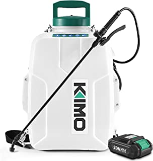 KIMO 3 Gal. 20V Li-Ion Battery Powered Backpack Sprayer w/ 2.0Ah Battery&Charger, 2 Extended Hoses, 3 Nozzles, No Manual P...