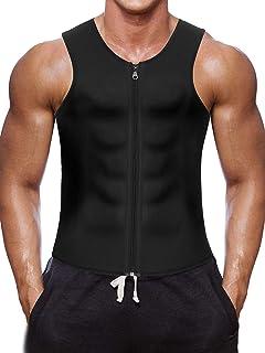 Gotoly Uomo Neoprene Shapewear Camicia A Compressione Gilet Dimagrante Body Shaper Canotta da Allenamento Gilet Sauna Spor...