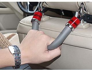 LENASH مقاعد السيارة مسند رأس مقبض سلامة منتشر حامل شماعات مع السنانير (اللون: أحمر)