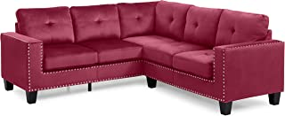 Glory Furniture Nailer Sectional, Maroon. Living Room Furniture, 35