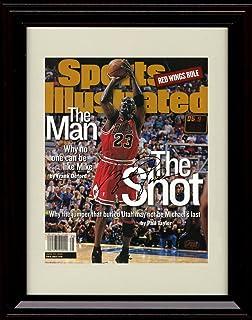 Framed Michael Jordan Sports Illustrated Autograph Replica Print - Chicago Bulls - The Shot