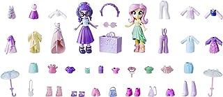 My Little Pony Equestria Girls Fashion Squad Fluttershy & Twilight Sparkle Mini Doll Set with 40+ Accessories; 2 Dolls wit...