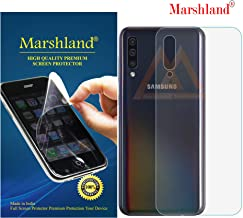 Marshland Back Screen Protector Bubble Free Flexible Anti Scratch TPU Back Screen Guard Compatible for Samsung Galaxy A50 (Transparent)