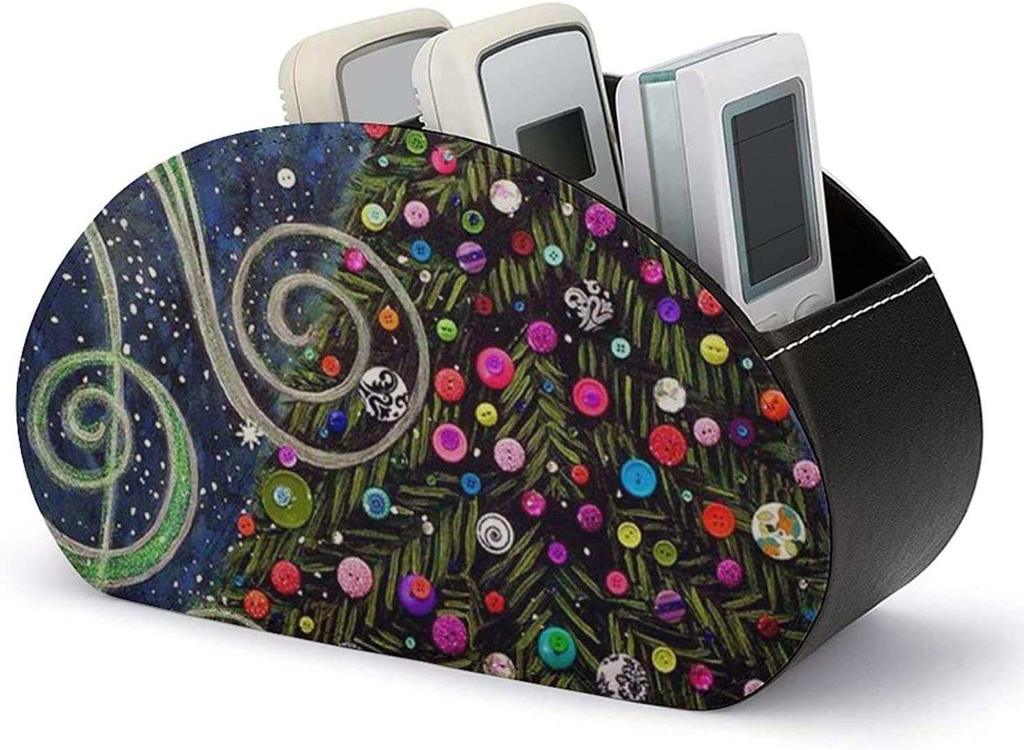 Remote Control Our shop most popular Holder PU Leather Colorful A mart Tree Christmas Media