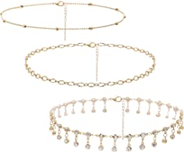 So Pretty Dainty Layered Choker Necklaces Handmade Coin Tube Star Pearl Pendant Multilayer Adjustable Layering Chain Gold Necklaces Set for Women Girls